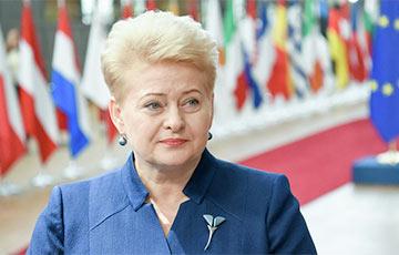 Даля Грибаускайте призвала литовцев добиться закрытия БелАЭС