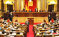 Парламент Каталоніі прыняў рэзалюцыю аб самавызначэнні