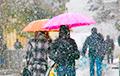 Видеофакт: в Минск пришла снежная гроза