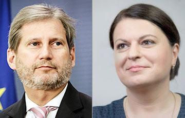 Наталья Радина обратилась к еврокомиссару Йоханнесу Хану