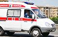 Видеофакт: очередь машин скорой помощи возле минской больницы