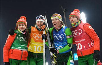 Белорусские биатлонистки выиграли «золото» в эстафете на ОИ-2018