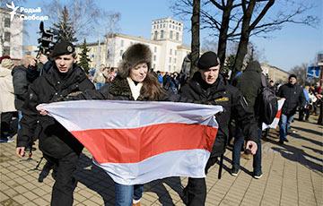 Массовые аресты на площади Якуба Коласа в День Воли (Видео, онлайн)