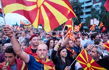 В столице Македонии вышли на протест из-за нового названия страны