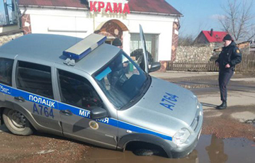 Житель Миор напал на милицейскую машину