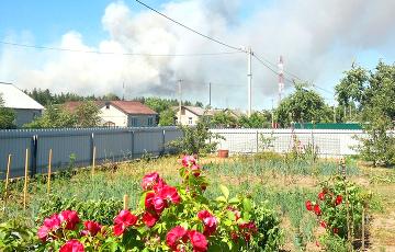 Под Барановичами горит военный полигон