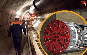 Копающая метро «Алеся» за €11 миллионов застряла возле подземного хранилища Нацбанка