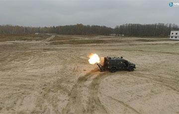 Опубликованы кадры испытаний нового украинского минометного комплекса «Барс-8ММК»