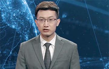 Видеофакт: ВКитае показали первого телеведущего-робота
