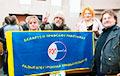 Відэафакт: Галіна Смірнова адбіла сцяг РЭП у міліцыі