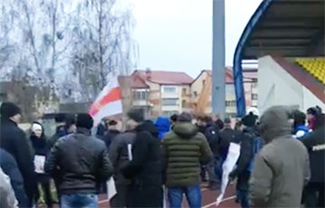 Independent Trade Union In Salihorsk Holds Protest Action