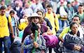 Першая група каравана мігрантаў дасягнула мяжы ЗША