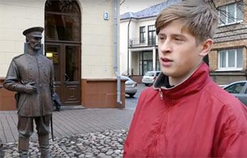 Белорусы начали флешмоб из-за пощечины памятнику городовому