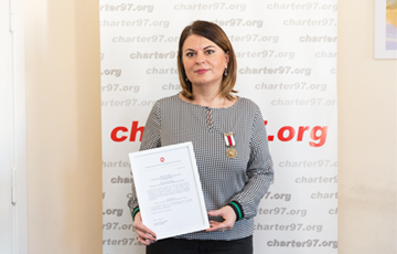 Charter'97 Editor-In-Chief Natallia Radzina Awarded With BPR Medal