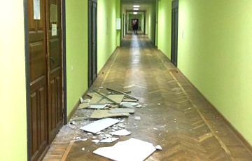 Ceiling Fell Off In Homel University During Class Time