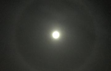 В Беларуси заметили лунное гало