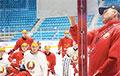Сборная Беларуси по хоккею опробовала «Барыс-Арену»