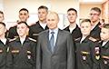 Петербургские суворовцы показали Путину роботов, а те оказались сделаны в Южной Корее