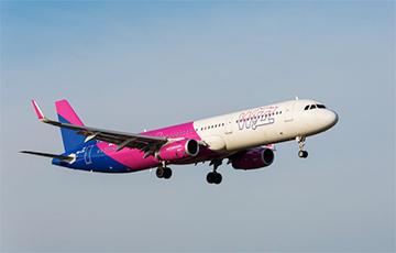 У Менску заўважылі самалёт Wizz Air