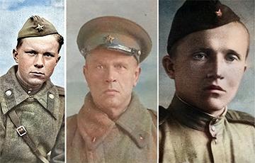 Как выглядят военные фото беларусских писателей в цвете