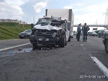 Фотофакт: На МКАД столкнулись четыре автомобиля