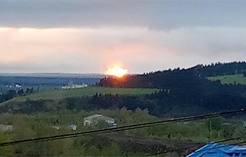 В России загорелся магистральный газопровод