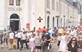 Видеофакт: Брестчане идут шествием по центральным улицам города