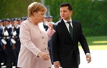 Мэркель - Зяленскаму: Санкцыі захаваюцца, пакуль Расея не верне Крым