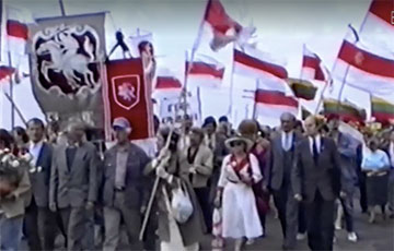 Видеофакт: Зенон Позняк возглавил «Игуменский шлях» под Минском