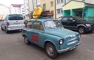 Фотафакт: У жодзінскім таксі працуе 55-гадовы «Запарожац»