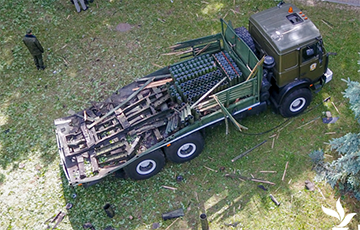 Как выглядит место взрывов салютов на 3 июля: фото с дрона