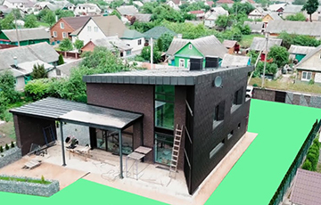Фотафакт: Пад Менскам з'явіўся дом з незвычайнай архітэктурай