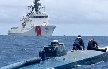 Берагавая ахова ЗША ўзяла на абардаж субмарыну з 17 тонамі какаіну