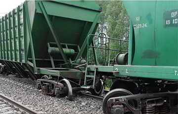 Freight Cars Derailed On Minsk - Vorsha Railway Line