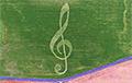 На поле под Копылем появился рисунок скрипичного ключа