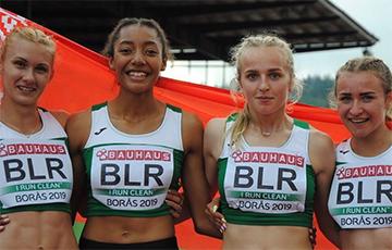 Белоруски завоевали серебро на юниорском ЧЕ с обновлением национального рекорда