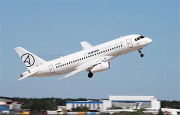 Продажы Sukhoi Superjet абрынуліся ў 12 разоў