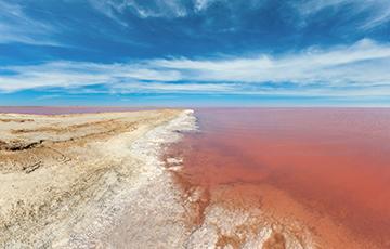 Уникальный отдых для белорусов: как попасть на розовое озеро