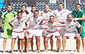 Брамнік зборнай Беларусi па пляжнаму футболу: Падчас выкананьня гімна прамаўляю «Пагоню»