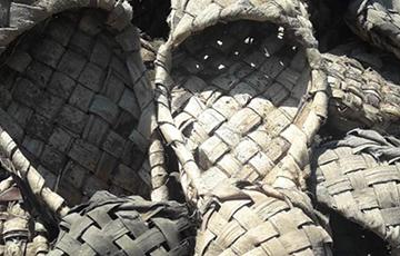 В Шклове нашли гору 100-летних лаптей