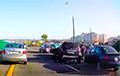 Массовая авария на МКАД заблокировала движение по средней полосе