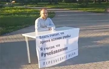 У Менску прайшоў адзіночны пікет супраць «закона пра адтэрміноўку»