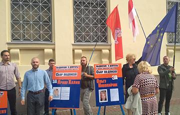 «Европейская Беларусь» проводит новые пикеты по сбору подписей в Минске