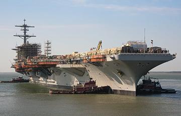 Видеофакт: США спустили на воду огромный авианосец «Джордж Вашингтон»