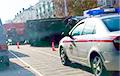 Серьезная авария в Витебске: микроавтобус вылетел на тротуар, грузовик опрокинулся