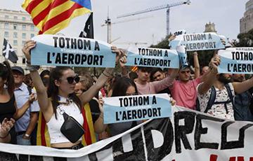 В Барселоне возобновились массовые беспорядки