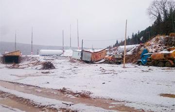 Как прорывало дамбу в Красноярском крае РФ: фоторепортаж