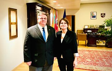 Главный редактор «Хартии-97» встретилась с министром иностранных дел Литвы