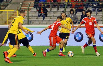Бельгия уничтожила Россию в отборочном матче Евро-2020