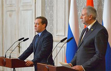 Румас и Медведев семь часов обсуждали «туман» в отношениях Беларуси и РФ
